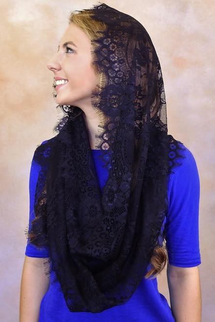 Eyelash Lace Infinity Veils