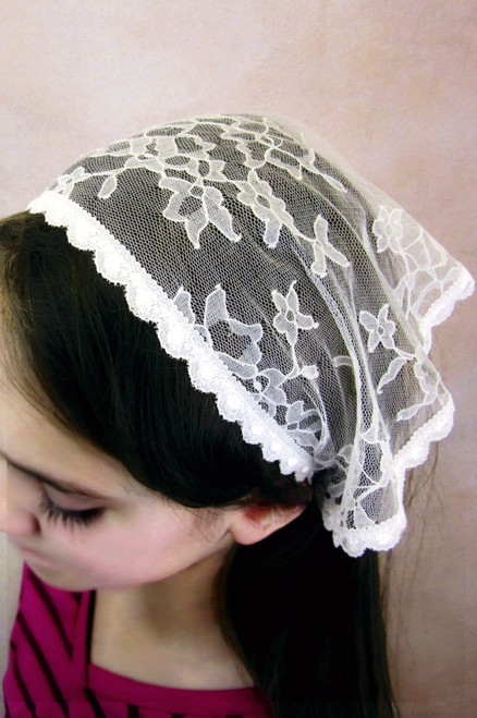 Off-White Mini Starter Veil with Ties