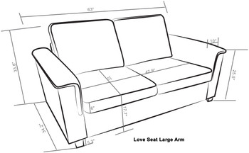 Kinnect Lexington Love Seat Slate
