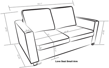 Kinnect Madison Love Seat Slate