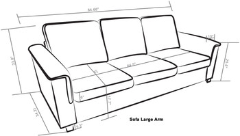 Kinnect Lexington Sofa Bark