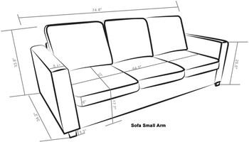 Kinnect Park Sofa Slate