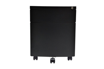 Curved Front Steel mobile storage cabinet, Black