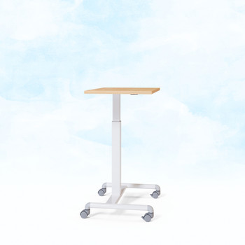 Geo adjustable height table Maple