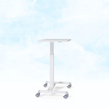Geo adjustable height table White