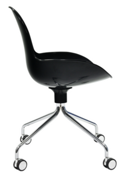 Zamoo guest chair on casters Black