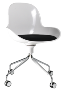 Zamoo guest chair on casters White