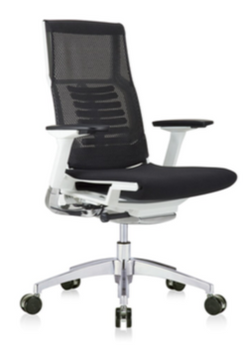 Powerfit White frame Fabric Seat