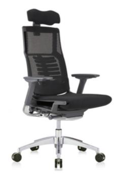 Powerfit Black Frame Fabric Seat W/Headrest