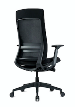 Elevate Black Frame Fabric Seat/Mesh