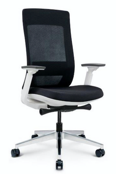 Elevate White Frame Fabric Seat/Mesh
