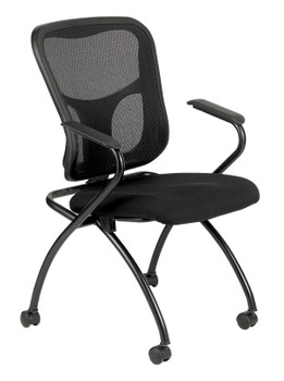 Flip W/Arms Fabric Seat Mesh Back
