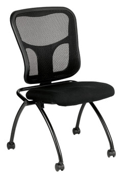Flip No Arms Fabric Seat Mesh Back