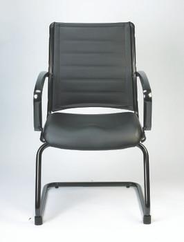 Europa Guest Chair Black Titanium Frame