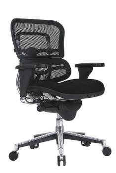 Ergo Mid Back Fabric Seat/Mesh Back