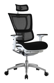 i00 Fabric Seat/Mesh Back with Headrest