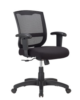 Maze Chair Adjustable Arm Mesh Back Fabric Seat