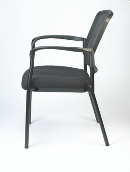 Dakota II Stackable Fabric Seat/Mesh Back with Arms