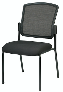 Dakota II Stackable Fabric Seat/Mesh Back No Arms
