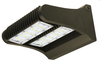 LED ADJUSTABLE WALL PACK 60WATTS 4000K & 5000K -The VLEDRWPA Series is a rugged, durable LED wall pack that provides full adjustability of the LED module, so light can be focused up, down, or anything in between. It is perfect for outdoor perimeter and area lighting. With a die cast aluminum housing and a polycarbonate lens, the LEDWPA Series will stand up to many years of punishing environmental conditions. High-efficacy, long-life LEDs provide both energy and maintenance cost savings compared to traditional, HID wall packs.  ▪ Available in 4000k (neutral white) and 5000k (cool white)  color temperatures.* ▪ Long-life LEDs provide 61,000 hours of operation with at  least 70% of initial lumen output (L70).** ▪ LEDWPA60 provides 7,809 lumens and 128 lumens per watt  (LPW) at 4000k, or 7,854 lumens and 129 LPW at 5000k.* ▪ LEDWPA80 provides 10,598 lumens and 134 LPW at both  4000k and 5000k.* ▪ Uniform illumination with no visible LED pixilation. ▪ Universal 120-277 AC voltage (50-60Hz) is standard. ▪ Power factor > 0.90. ▪ Total harmonic distortion < 20%. ▪ Color rendering index > 70. ▪ Die cast aluminum housing with durable, dark bronze,  powder coat paint. ▪ Polycarbonate lens with seamless, silicone gasket to prevent  leaks. ▪ Easy installation in new construction or retrofit.