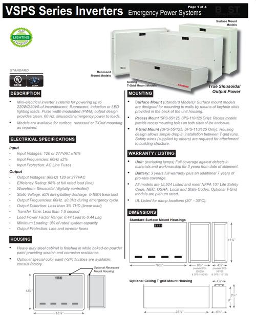 VSPS Emergency Power Systems