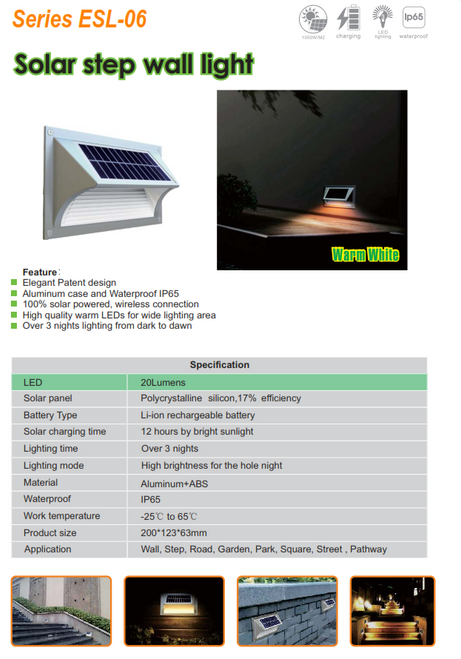 VESL-06   Solar Step Light