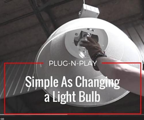 FOREVERlamp PLUG & PLAY ballast compatible LED retrofit for 1000 watt and 750 watt E39 mogul socket metal halide lamps. Compatible with pulse start and probe start Metal Halide ballasts.