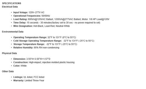 YM2501A  360 Degree Hibay PIR Fixture Mount Occupancy Sensor