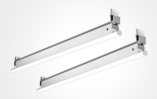 """This recessed linear light fixture can replace 2ft or 4ft cross tee of the ceiling suspension system. It is not just reducing building materials and labor, but create elegant and clean atmosphere with continuous run. It is an added unique separate design with LED module and T-Grid bracket which you can replace the LED module randomly for your different needs and compatible to 9/16"""" Flat T-grid ceiling, offer lighting designers more freedom to design since the led module can follow the ceiling elements in many different ways. It adopt remote driver, which parallelly connected 3pcs units per driver."""