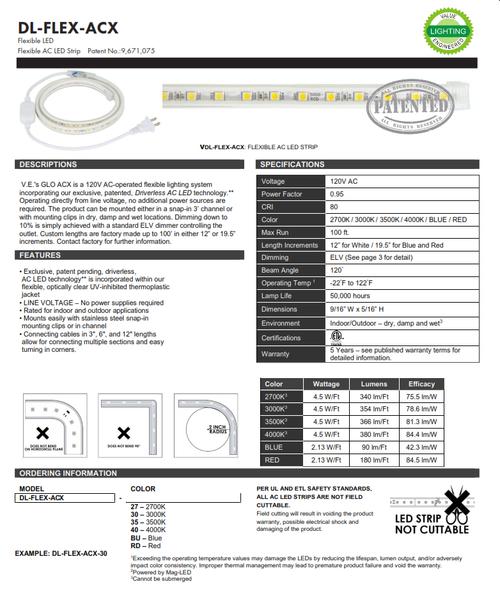 Flexible LED AC Strip Light (DL-FLEX-ACX)