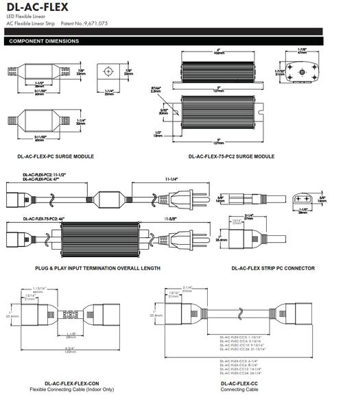 Flexible Linear LED Strip Lighting (DL-AC-FLEX)