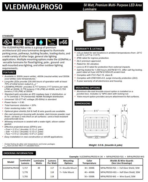 LED 50 Watt Pro Mini Flood Light