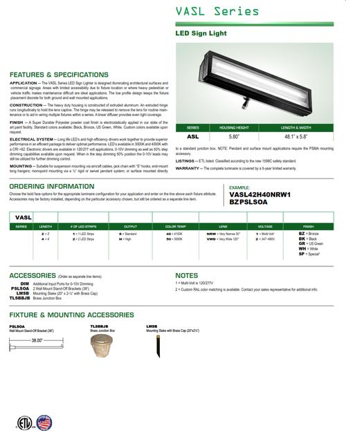 Series VAL LED Signlighter