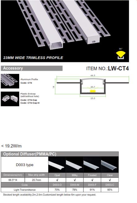 23mm Trimless Profile