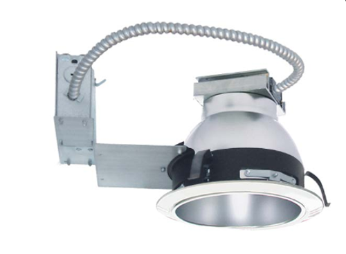 """The VLEDH-RFK8 is an 8"""" LED, Non-IC Remodel Frame-in kit and is available with multiple Trim styles. Designed for use in non-insulated ceilings, Insulation material must be kept a minimum of 3"""" from fixture. Available with a 14W, 23W, 30W or 45W, high efficacy LED engine and universal, dimmable drivers. The special optical diffuser produces high lumen transmission and even illumination. Suitable for Wet Locations."""