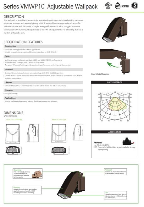 LED Adjustable Wallpack/Area Light