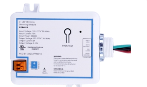 V.E. Wireless Lighting Control System is RF devices that control 0-10V electronic Fluorescent ballasts and LED drivers.