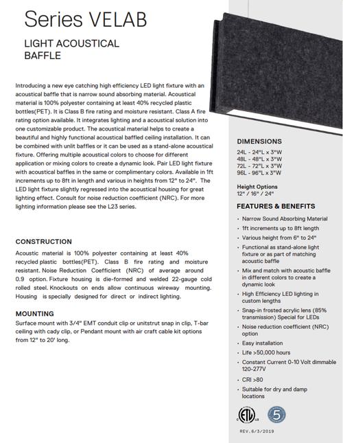 Acoustical Light Baffle