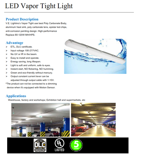 Economy LED Vaportite Light