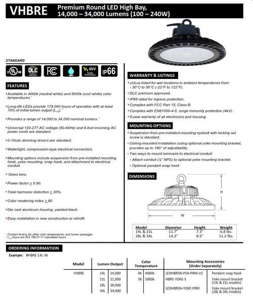 Round Economy LED Highbay Light