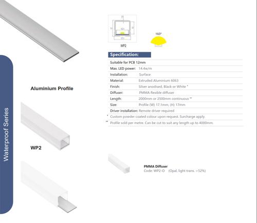 Wet Location Aluminum Extrusions  Series WP150