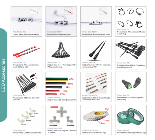 Accessories and Drivers for LED Tape Lighting
