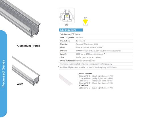 Recessed Aluminum WR-2 Series