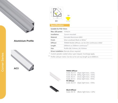 Corner Aluminum Extrusion  Series AC3