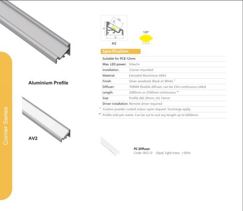 Corner Aluminum Extrusion  Series AV-2