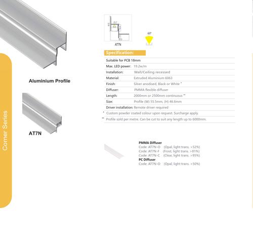 Corner Aluminum Extrusion  Series AT7N