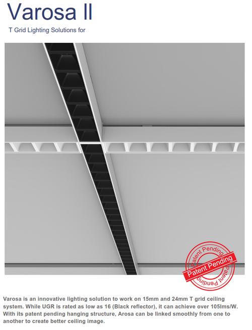 Varosa Linear T-Grid Fixture