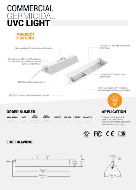UV-C Handheld Germicidal Light