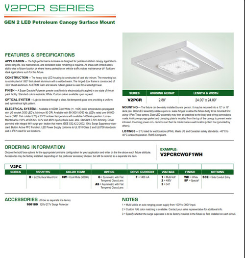 LED Surface Mount Petroleum Canopy/Garage Light
