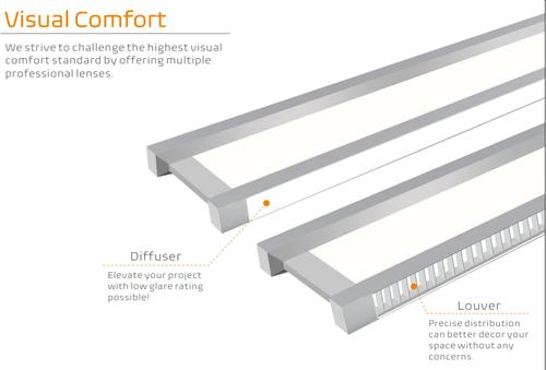 Linear Architectural LED Pendant Light